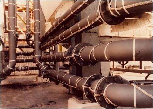 Heating cables to maintain viscosity